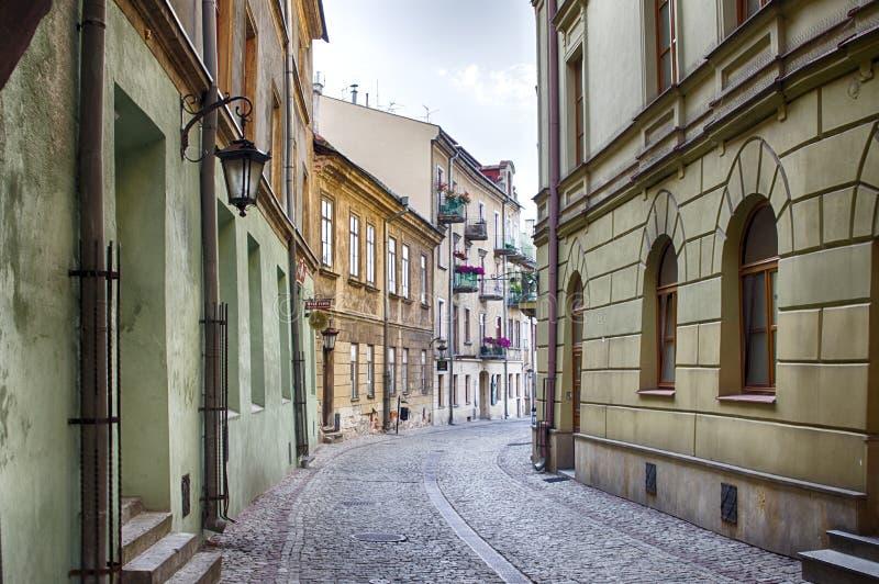 Lublin, Polonia, vieja arquitectura de la herencia de la UNESCO del centro de ciudad de la ciudad fotografía de archivo