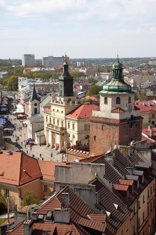 Download Lublin on top stock photo. Image of tourist, beauty, building - 14201808