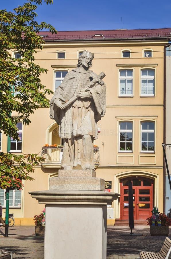 Lubliniec Town i Polen royaltyfri bild
