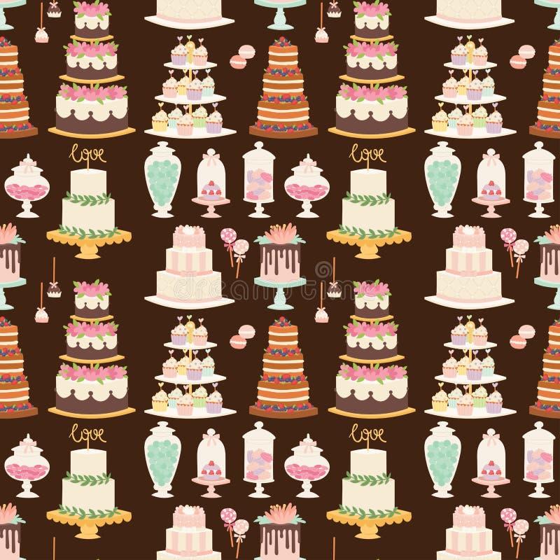 ?lubnych tort?w ?wie?ego smakowitego deserowego s?odkiego ciasta piekarni pasztetowy wy?mienity domowej roboty wy?mienicie kremow royalty ilustracja