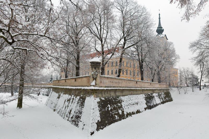 Lubomirski castle in Rzeszow, Poland. Winter Lubomirski castle in Rzeszow, Poland royalty free stock photography