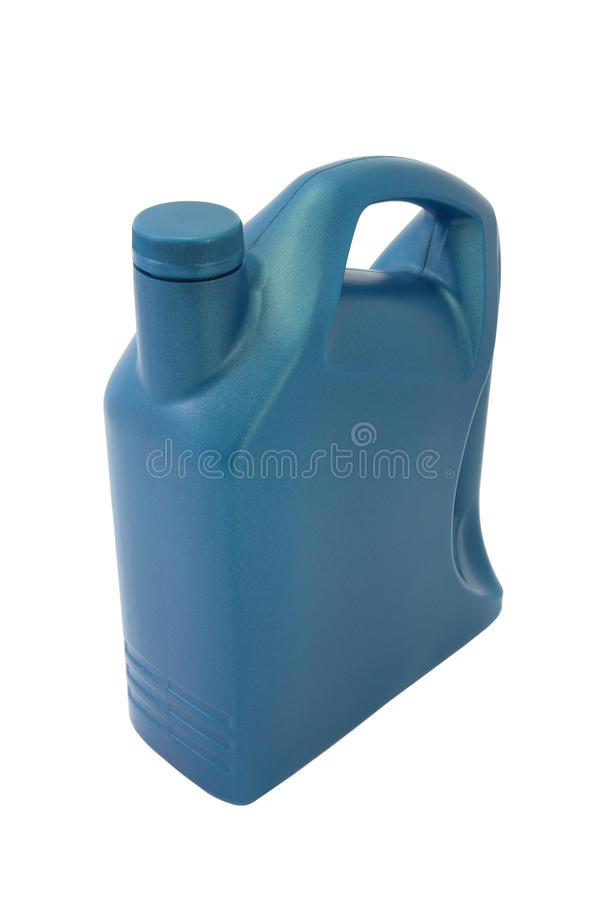 Lubricant Oil Plastic Container Stock Photo