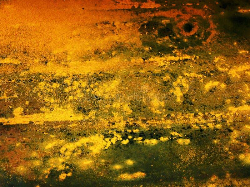 Lubricante Del Coche En La Tierra Fotografía de archivo