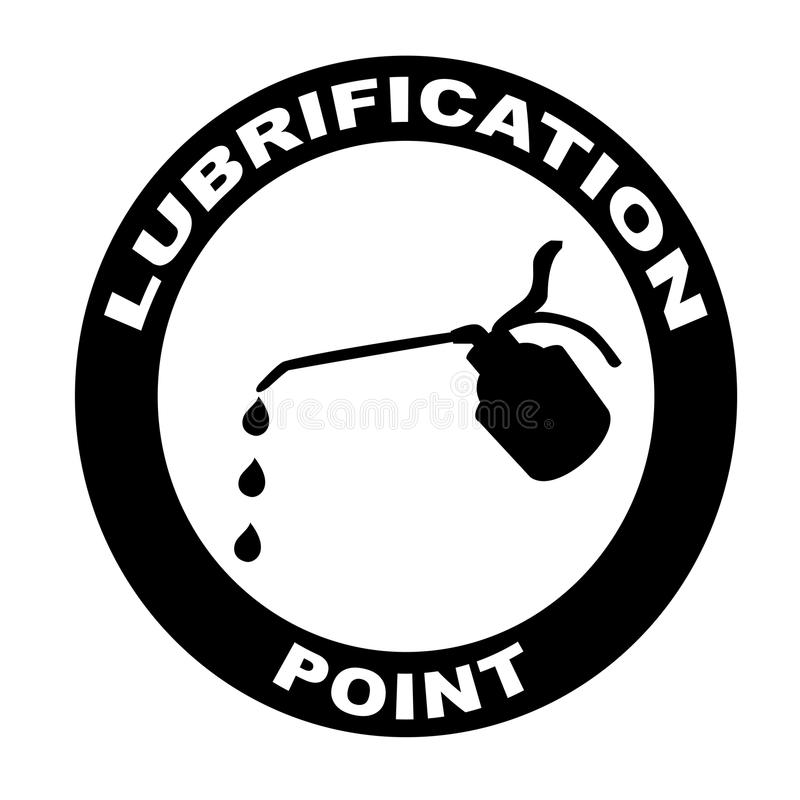 Lubrication sign stock photography