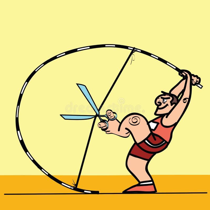 Lubrificando o vaulter de polo astuto do esporte ilustração do vetor