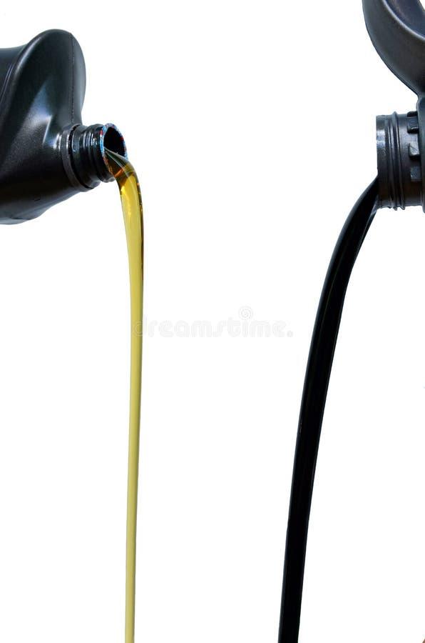 Lubrificante através do uso e dos lubrificantes que não foi usado imagem de stock