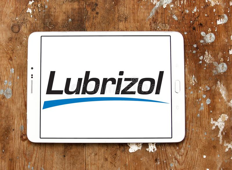 Lubrizol chemicals company logo. Logo of Lubrizol chemicals company on samsung tablet. The Lubrizol Corporation is a provider of specialty chemicals for the stock photos
