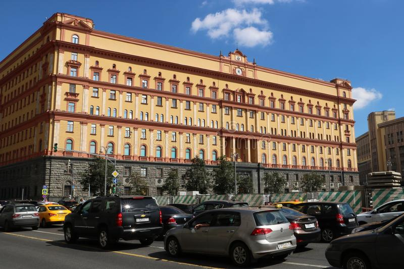 Lubyanka大厦,莫斯科 库存照片