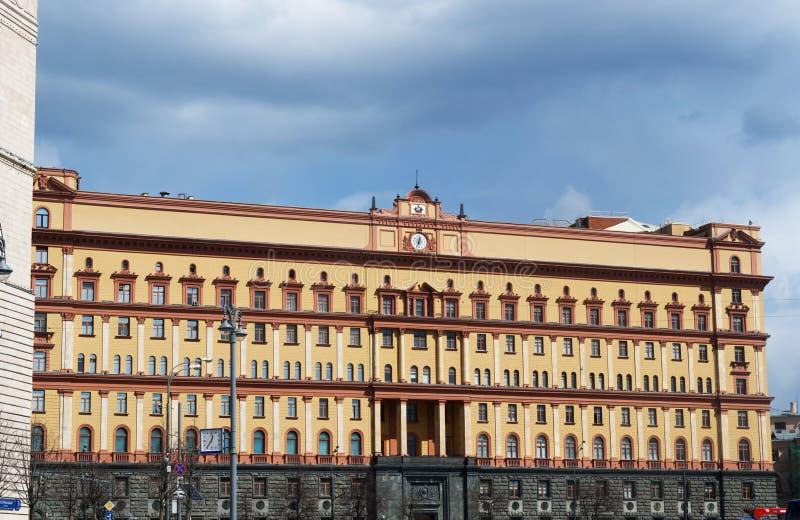 Lubyanka kvadrerar, Moskva, den ryska federala staden, rysk federation, Ryssland arkivbilder