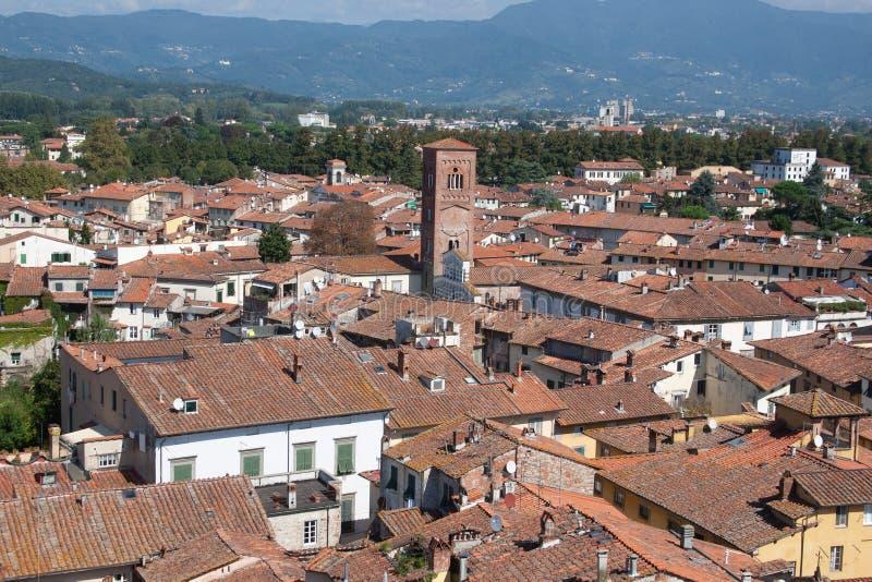 Luca het oude middeleeuwse dorp van Toscanië, Italië royalty-vrije stock fotografie