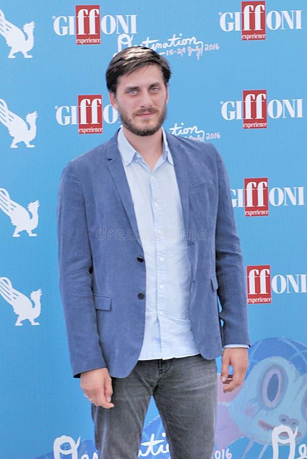 Luca Marinelli на фестивале фильмов 2016 Giffoni стоковые изображения
