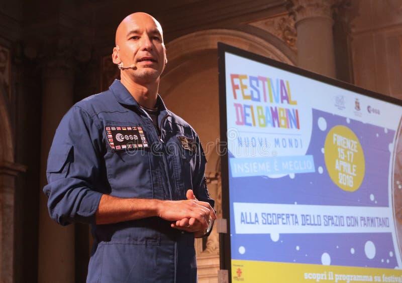 Luca Salvo Parmitano, Florença imagem de stock