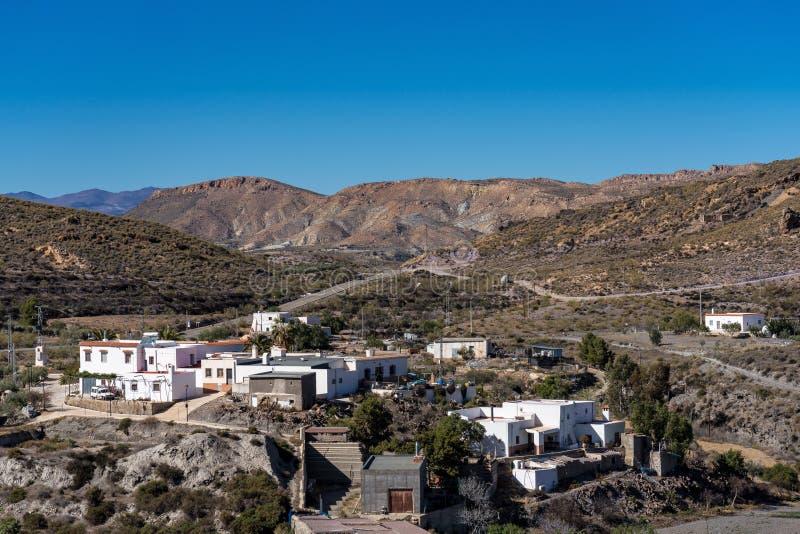 Lucainena de las Torres i Granadina, Sierra Nevada, Spanien royaltyfri bild