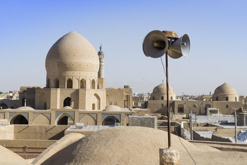 Lucarne étonnante de cercle à l'intérieur de Chambre de Tabatabaei, une maison historique dans Kashan Iran images stock