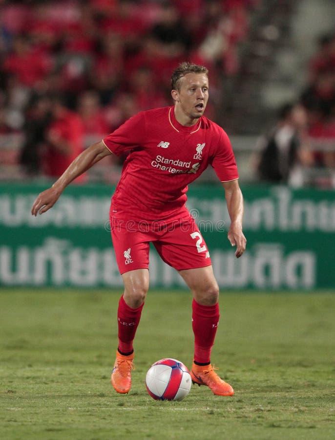 Lucas Leiva de Liverpool imagen de archivo