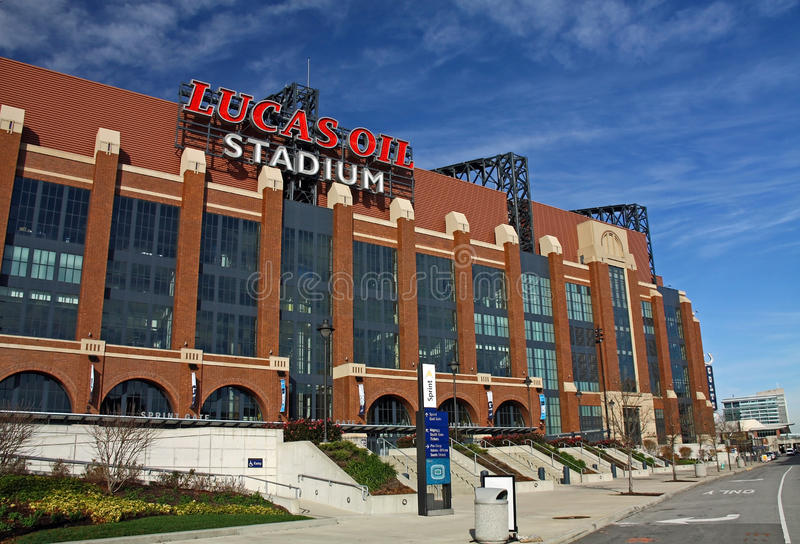 Lucas Oil Stadium stock images