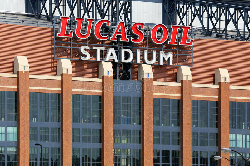 Lucas Oil Stadium stockbilder