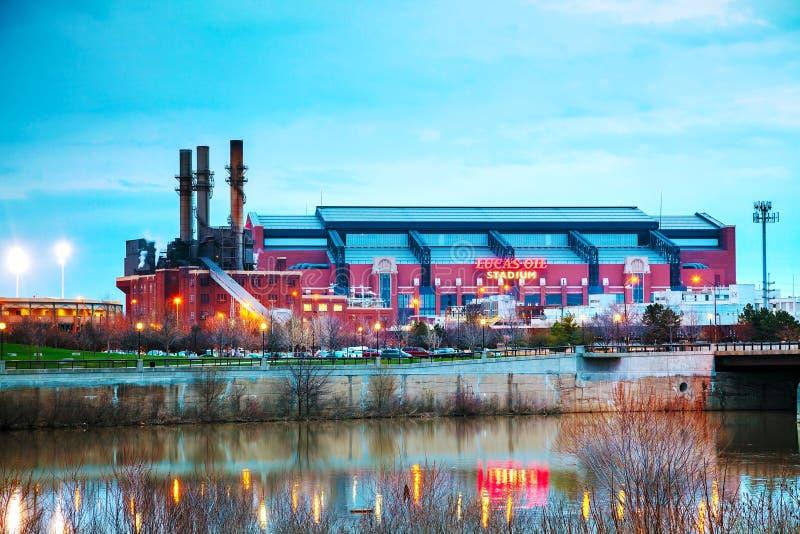 Lucas Oil Stadium em Indianapolis foto de stock royalty free
