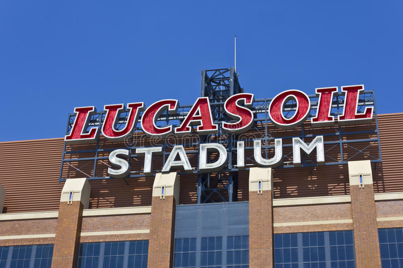 Lucas Oil Stadium I stockbilder