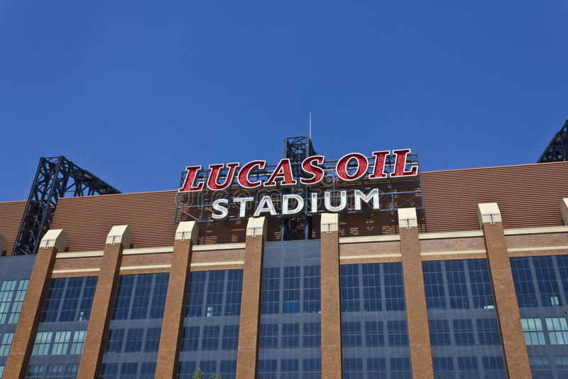 Lucas Oil Stadium II lizenzfreie stockfotografie