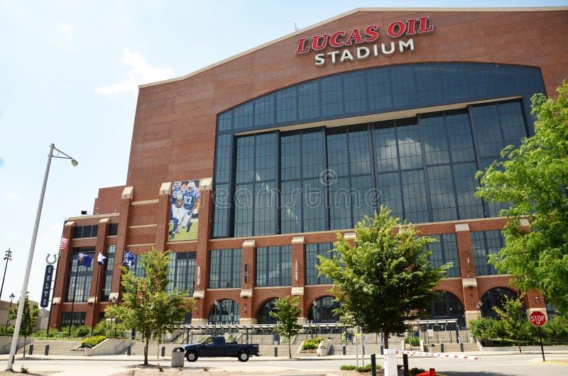 Lucas Oil Stadium Indianapolis royaltyfria bilder