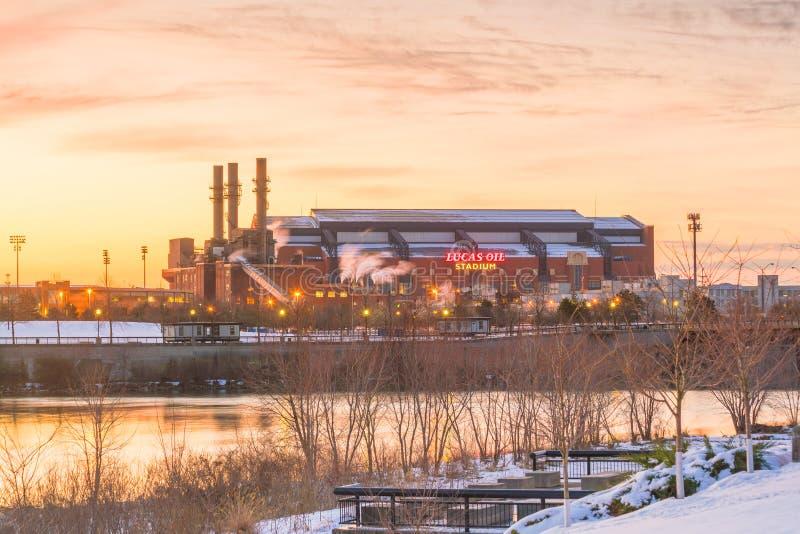 Lucas Oil Stadium ist ein Haus zu den Indianapolis Colts lizenzfreie stockfotos