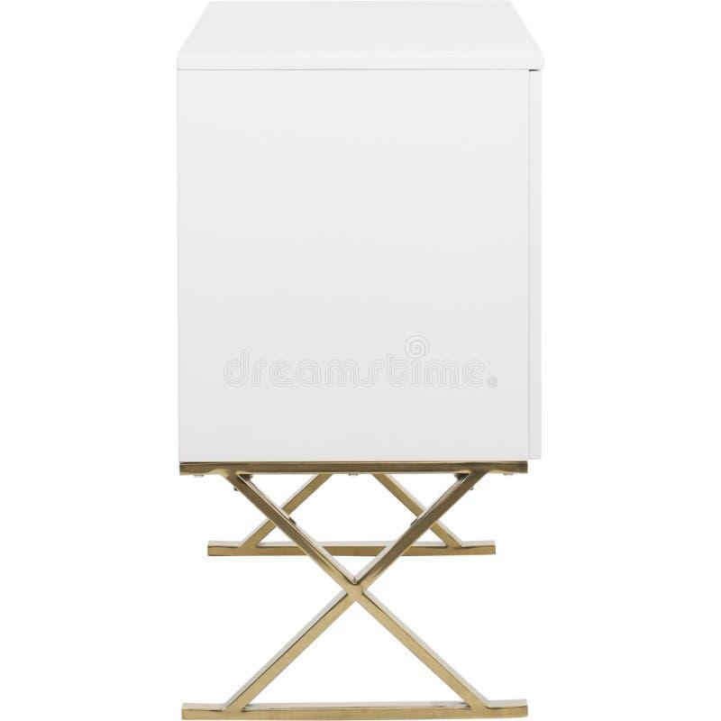 Lucas Sideboard   Rove Concepts, unit? bianca di spettacolo di 6 cassetti TV, apprettatrice del cassetto di Mateer 6 con fondo bi immagine stock