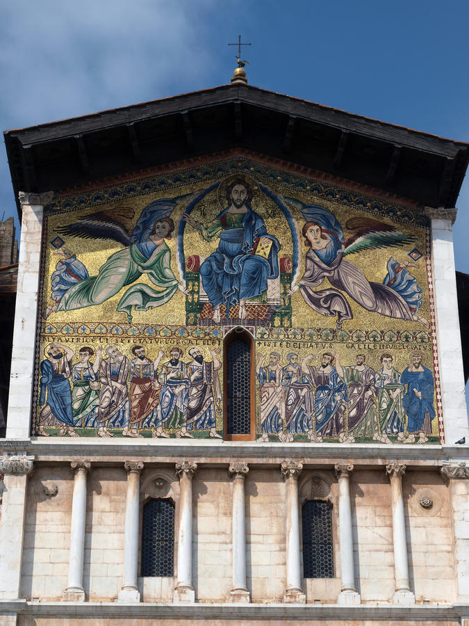 Lucca - église de San Frediano image libre de droits