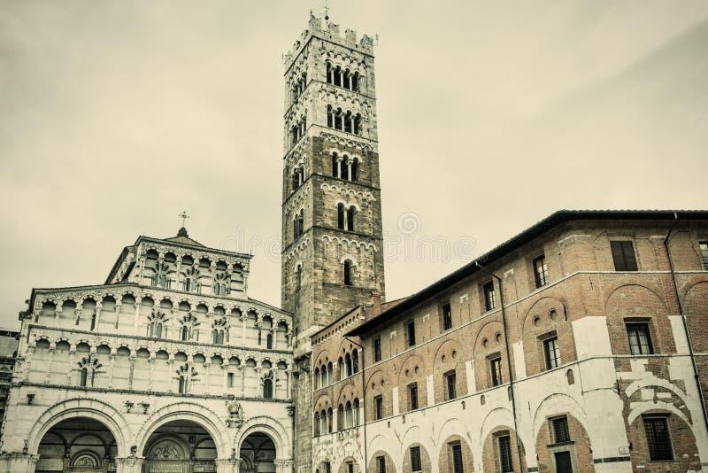 Lucca Duomo royaltyfria foton