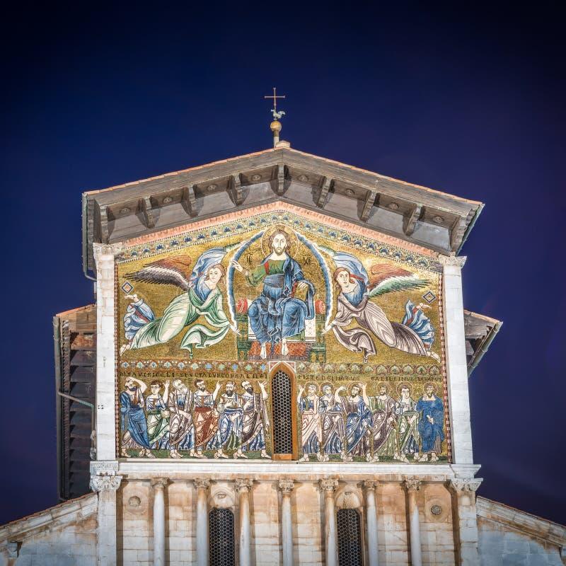 Church of San Frediano, Lucca, Tuscany, Italy stock photos