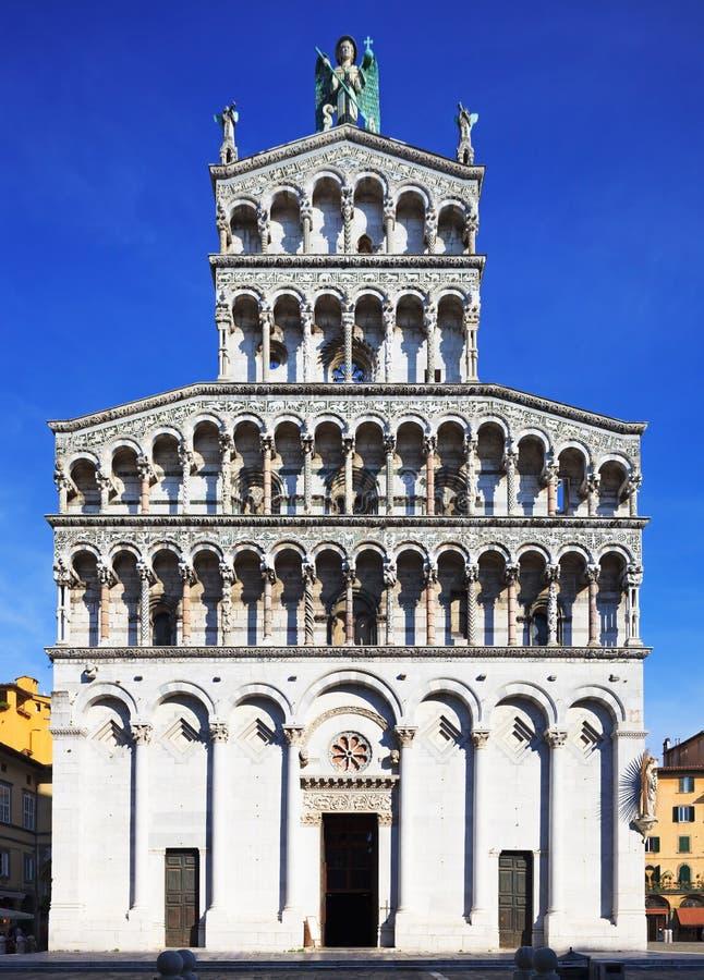 Lucca-Markstein, San Michele in Foro Kirche. Toskana, Italien. stockfoto