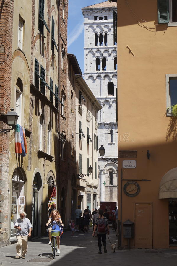 Lucca mittstad fotografering för bildbyråer
