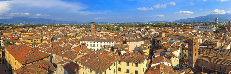 Lucca panorâmico fotografia de stock