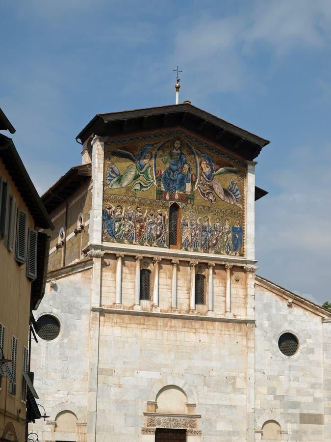 Lucca - San Frediano Church stock photo