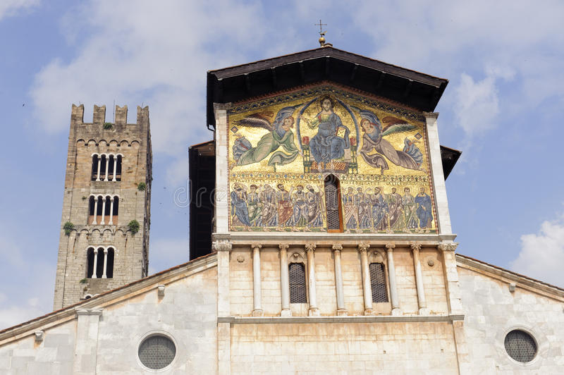 Lucca, San Frediano church stock images
