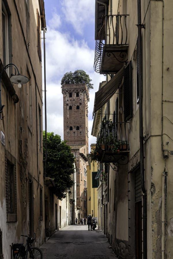 Lucca, Toskana, Italien. Straßen stockbilder