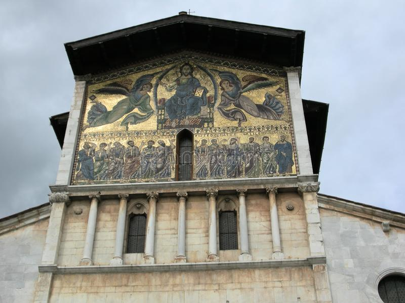 Beautiful Lucca Tuscany church royalty free stock image