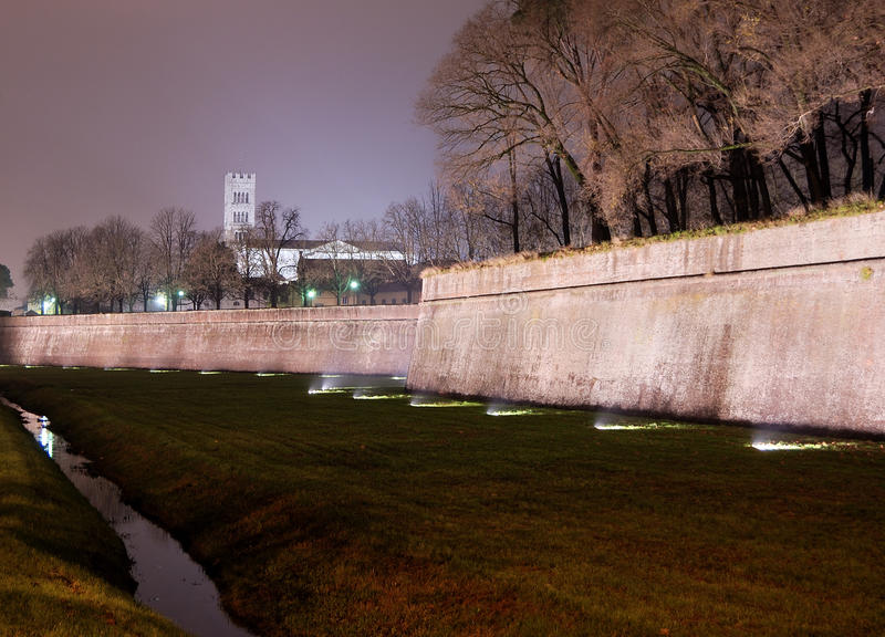 Download Lucca The Walls stock image. Image of night, pisa, walls - 37895159