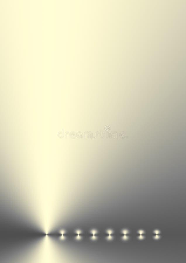 Luccichio dorato illustrazione di stock
