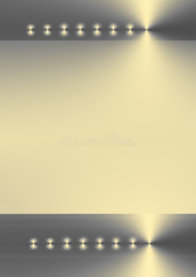 Luccichio dorato astratto illustrazione di stock
