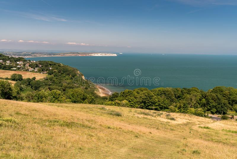 Luccombe, and Sandown Bay Isle of Wight, from Nansen Hill royalty free stock photography
