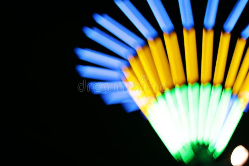 Luce al neon della sfuocatura fotografie stock libere da diritti