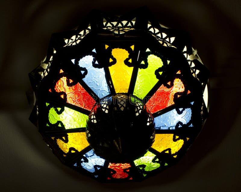 Luce araba variopinta della lampada del soffitto di stile fotografia stock