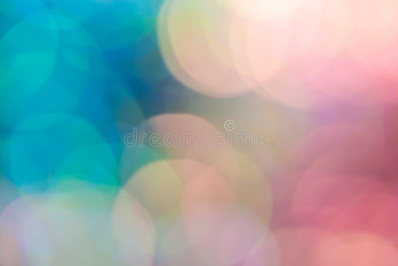 Luce astratta del bokeh di colore del vestito dallo zecchino della sfuocatura illustrazione di stock