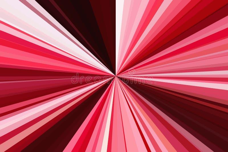 Luce astratta del fondo di colore rosso zoom illustrazione di stock