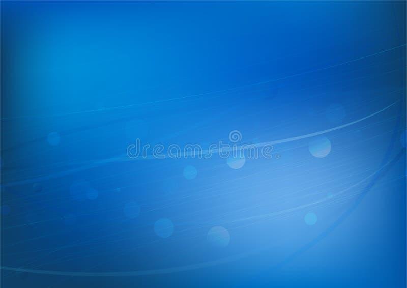 Luce bianca e scintillio morbidi moderni astratti su fondo blu, illustrazione vettoriale
