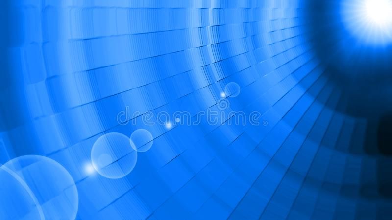 Luce blu del sole del fondo astratto immagini stock
