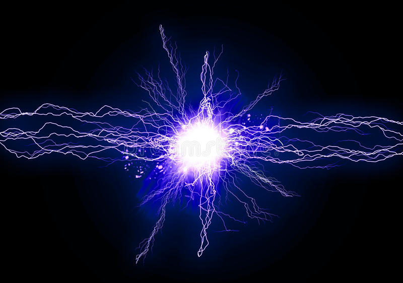 Luce blu di energia illustrazione di stock
