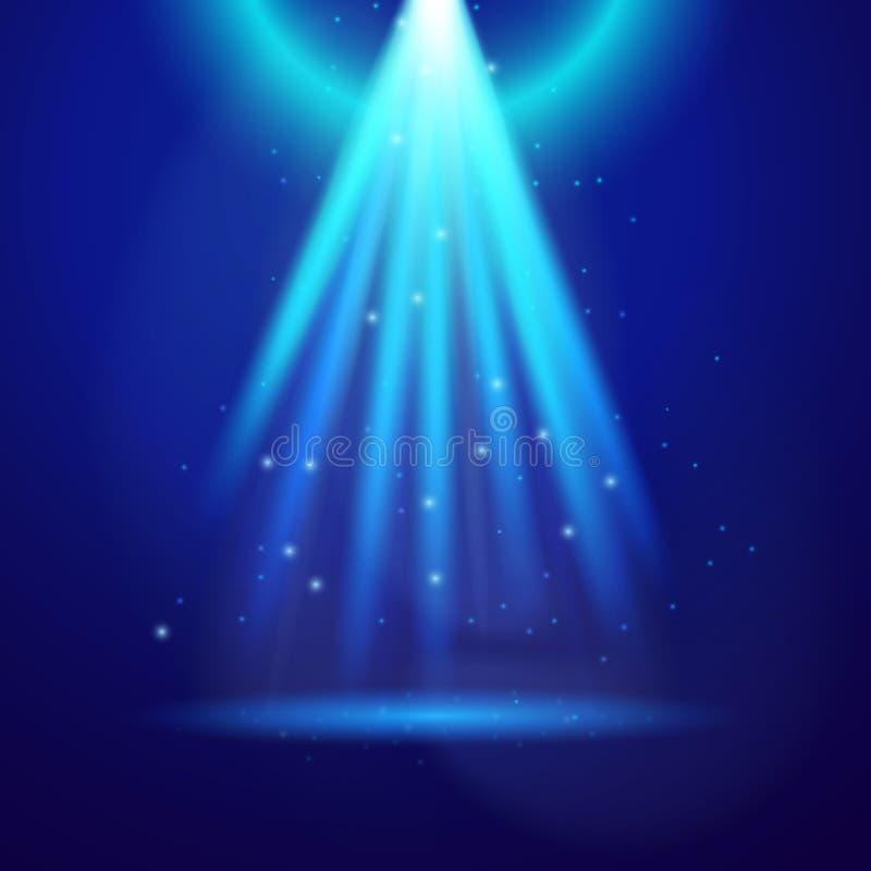 Luce blu di lustro royalty illustrazione gratis