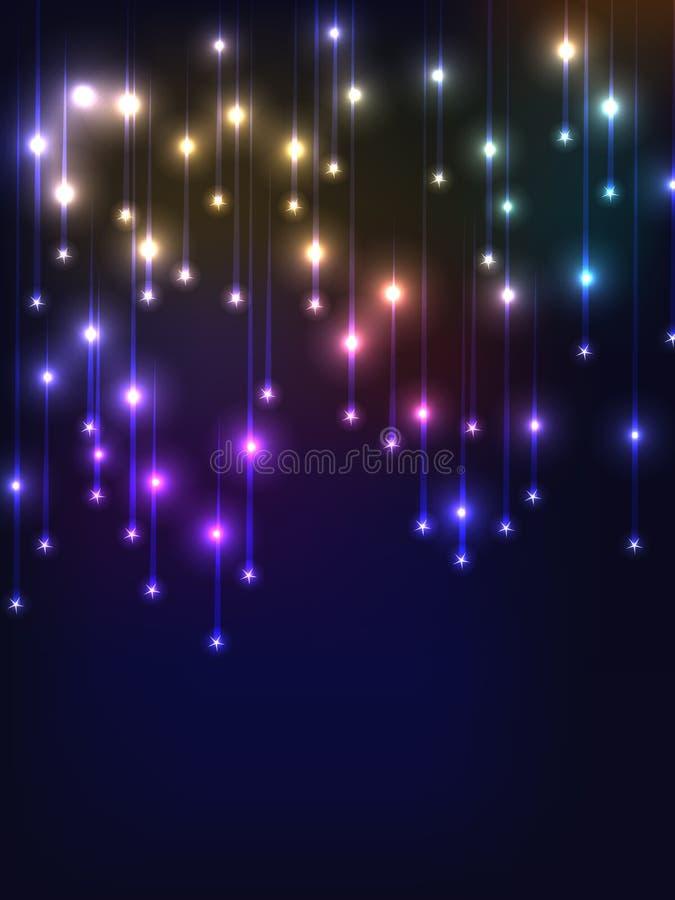 Luce cadente della stella illustrazione di stock